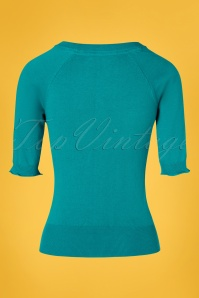 Le Pep 27329 Ankly Top in Teal Blue  20190219 011W