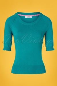 60s Anky Top in Biscay Bay Blue