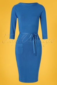 LE PEP 60s Abbey Dress in Palace Blue
