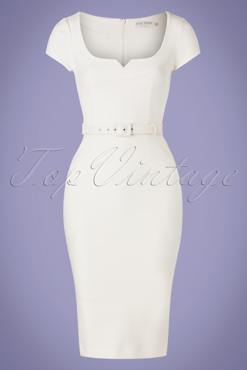 Zoe Vine 29721 White Pencil Dress 20190219 002W