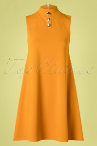 Vintage Chic for TopVintage 60s Jean A-Line Dress in Mustard