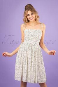 50s Sweet Spot Dress in Ivory White