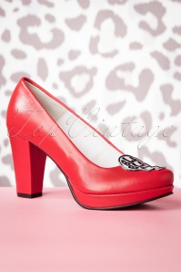 50s Samantha's Phone Pumps in Red