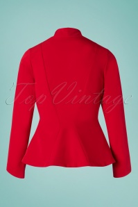 Miss Candyfloss 28655 40s Clementine Red Jacket 20190220 007W