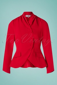 Miss Candyfloss 40s Clemence Jacket in Red
