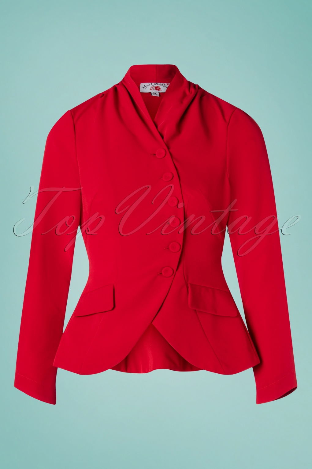 1940s Coats & Jackets Fashion History 40s Clemence Jacket in Red �76.20 AT vintagedancer.com