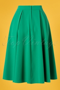 Miss Candyfloss 28656 Swing Skirt in Green 20190220 009W