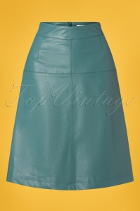 Le Pep 27331 Hydro Green Faux Leather Skirt 20190220 002W