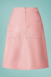 Le Pep 27332 Bridal Rose Faux Leather Skirt 20190220 008W