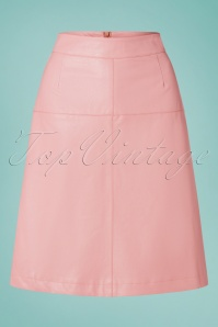 LE PEP 70s Amanda Skirt in Bridal Rose