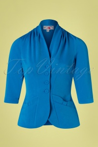 40s Adelaide Blazer in Blue