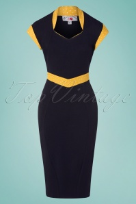 Miss Candyfloss 28677 Tremaine Lee Two Tone Wiggle Dress 20190220 002W