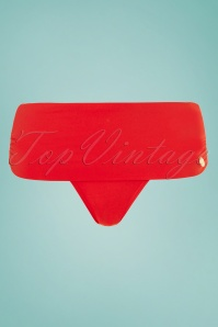 50s Flipover Bikini Brief in Tropical Red