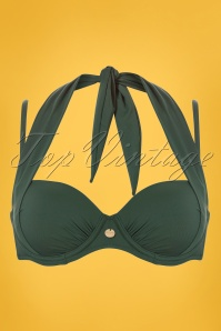 TC WOW 50s Multiway Bikini Top in Olive Green