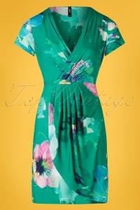 Smash! 27868 Green Floral Pencil Dress 20190220 003W