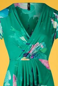 Smash! 27868 Green Floral Pencil Dress 20190220 003V