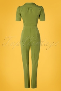 Very Cherry 26995 Classic Jumpsuit Green 20190221 009W