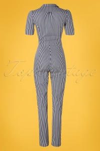 Very Cherry 26996 Classic Striped Jumpsuit 20190221 010W