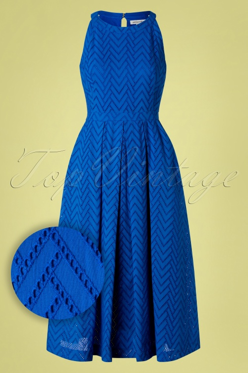 Ocean Blue Halter Dress