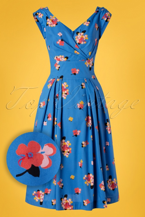 Emily And Fin 27702 Blue Floral Dress 20190221 002W1