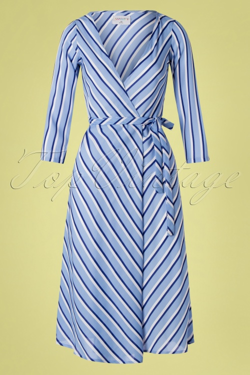 Compania Fantastica 27345 Striped Wrap Dress 20190221 002W