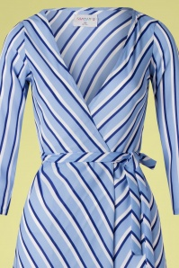 Compania Fantastica 27345 Striped Wrap Dress 20190221 002V