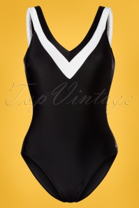 Tweka 60s Jody Swimsuit in Black and White