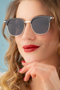 Polly Sunglasses Années 50 en Noir
