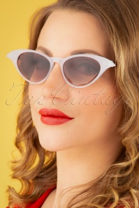 50s Ava Sunglasses in Brown and White
