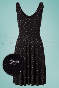 TopVintage Boutique Collection 28924 Black Bow Dress 20190222 003W1