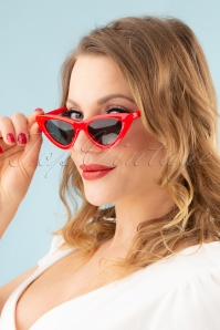 60s Rosabel Sunglasses in Red