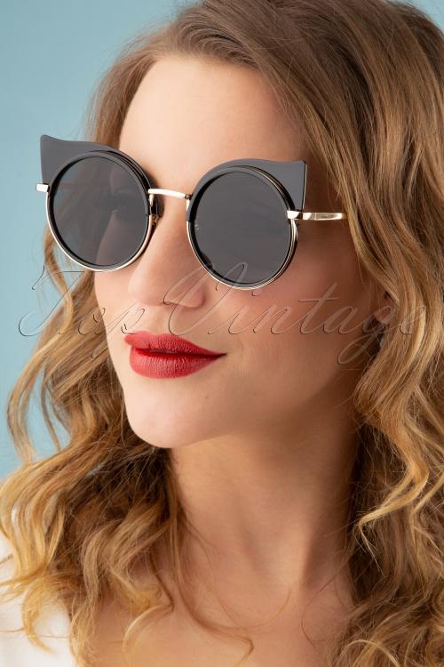Banned Retro 26841 Sunglasses Black Wing 20190219 003W