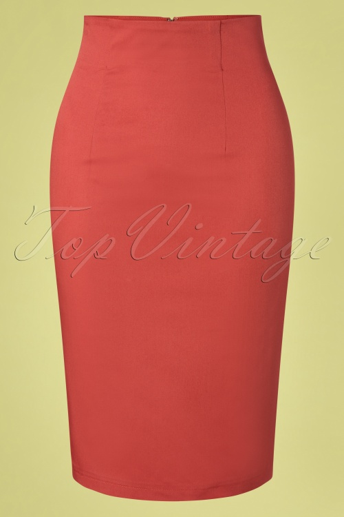 Dolly and Dotty 29160 50s Falda Red Pencil Dress 20190222 004W