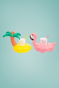 Sunny Life 28798 Luxe Drink Holder Party Tropical Flamingo Palmtree Inflatable 20180522 004