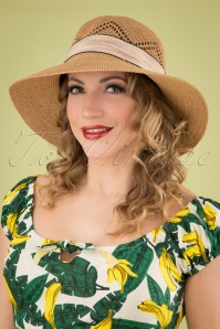 50s Tiki Club Hat in Natural