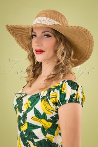 50s Holiday Inn Straw Hat in Natural