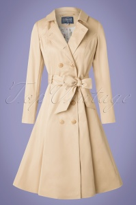 Collectif Clothing Korrina Swing Trenchcoat in Beige 20790 20161130 0008w