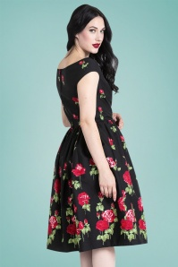 Bunny Marlena 50s Roses Swing Dress 28828 2W