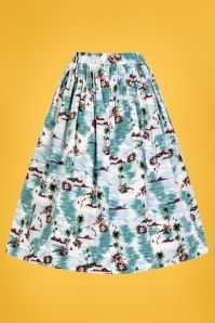 Bunny 28838 Nissi 50s Skirt in Blue 2W