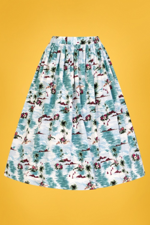 Bunny 28838 Nissi 50s Skirt in Blue 1W