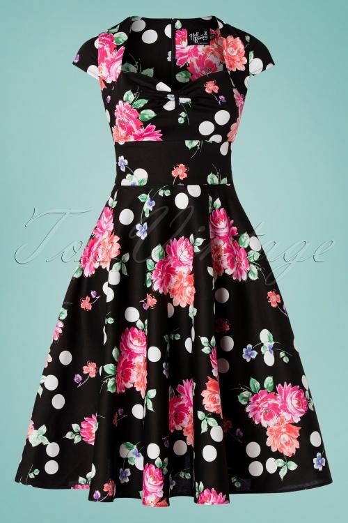 Bunny 28829 Carole's 50s Floral Swing Dress 20190225 006W