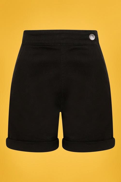 Bunny 28842 Black Denim Shorts 1W