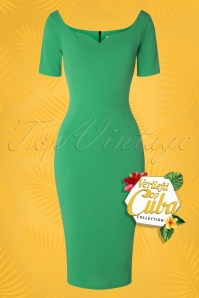 Vintage Chic 28719 Leprchaun Green Pencil Dress 20190121 003W VOC
