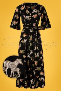 Bunny 28848 Messina Safari Jumpsuit in Black 20190225 003W1