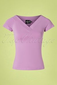50s Alex Top in Lavender
