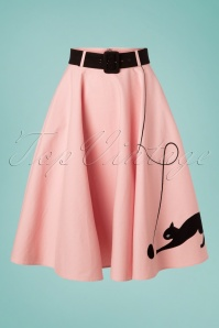 Collectif Clothing 27376 Kitty Cat Swing Skirt in Pink 20180815 002W