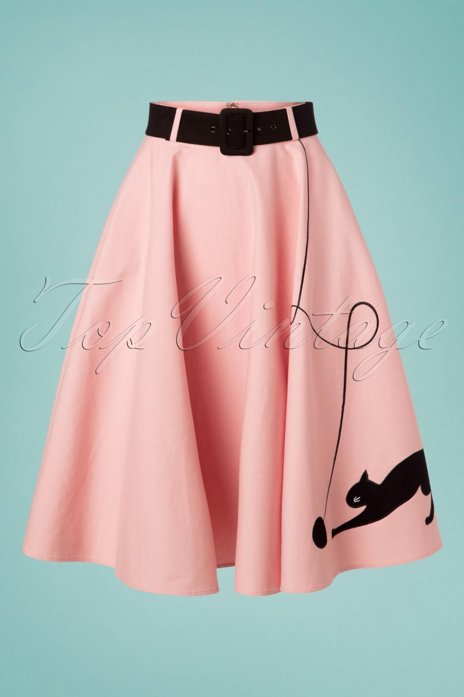 Poodle Skirts | Poodle Skirt Costumes, Patterns 50s Kitty Cat Swing Skirt in Light Pink �51.54 AT vintagedancer.com