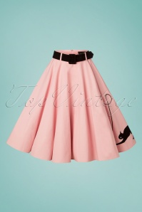 Collectif Clothing 27376 Kitty Cat Swing Skirt in Pink 20181217 004W1