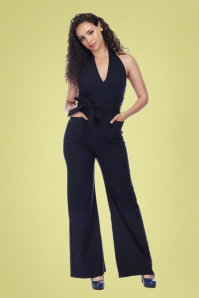 50s Bella Jumpsuit in Navy