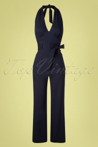 Collectif Clothing 27431 Bella Plain Jump Suit Blue 20181217 005W
